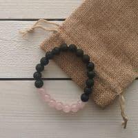 Rose Quartz Essential Oil Diffuser Bracelet | Cloudsonline